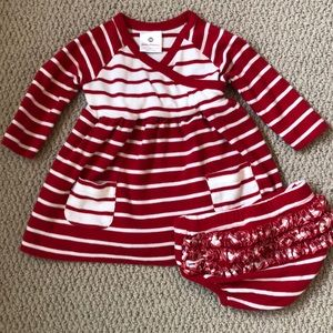 Hanna Andersson striped dress with diaper cover